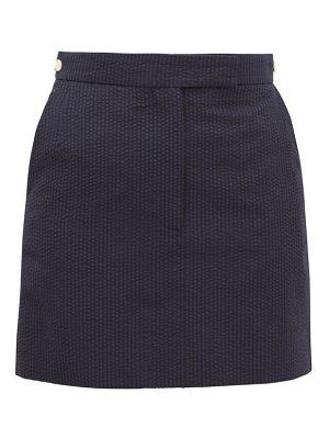 Thom Browne tonal-striped wool seersucker mini skirt