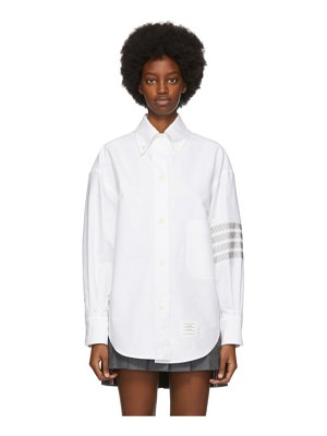 Thom Browne white 4-bar oversized shirt