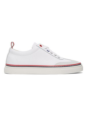 Thom Browne white calfskin sneakers
