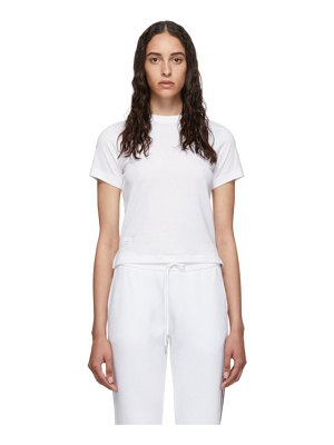 Thom Browne white relaxed fit side slit t-shirt