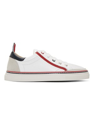 Thom Browne white trainer contrast heel sneakers