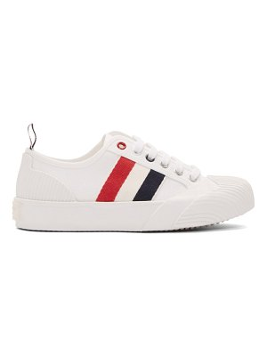 Thom Browne white vulcanized trainer sneakers