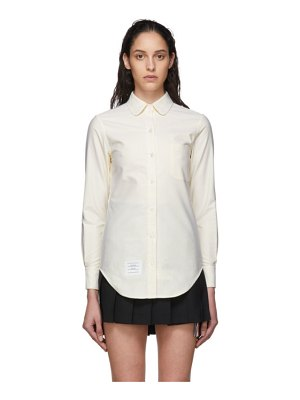 Thom Browne yellow and white oxford striped shirt