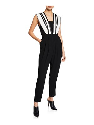 Three Floor Riot Girl Striped Sleeveless Straight-Leg Jumpsuit
