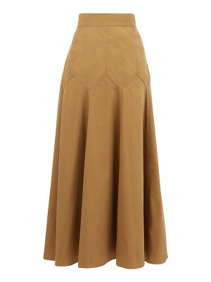 THREE GRACES LONDON aria panelled cotton-poplin midi skirt