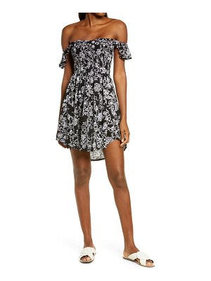 TIARE HAWAII hollie off the shoulder cover-up dress