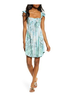 TIARE HAWAII hollie smocked cover-up dress