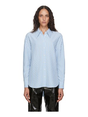 Tibi blue and white gingham relaxed shirt
