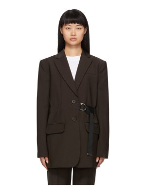 Tibi brown belted wool blazer