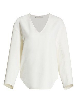 Tibi chalky drape sculpted top