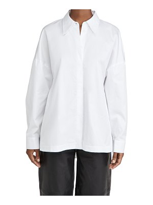 Tibi classic shirting oversized shirt
