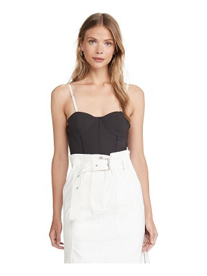 Tibi corset bodysuit with detachable straps