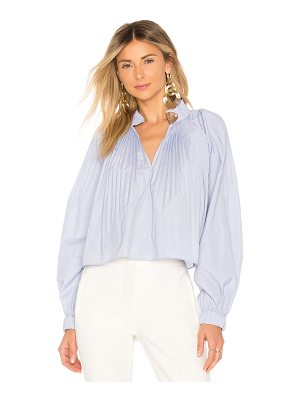 Tibi Cropped Edwardian Top