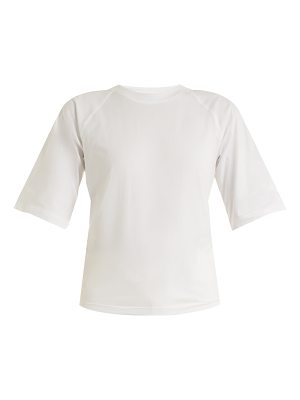 Tibi Cut-out back cotton T-shirt