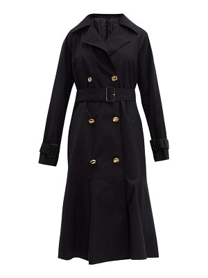 Tibi double breasted cotton trench coat