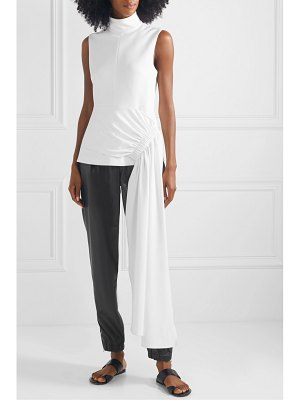 Tibi draped asymmetric crepe top