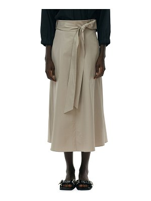 Tibi Eco Poplin Wrap Skirt