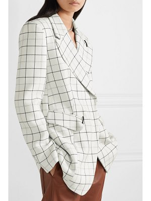 Tibi embellished checked woven blazer