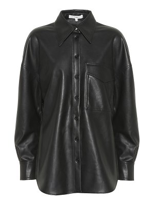 Tibi faux leather blouse