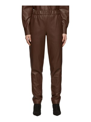 Tibi faux-leather pull-on trousers
