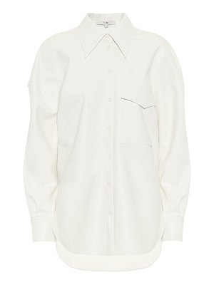 Tibi faux-leather shirt
