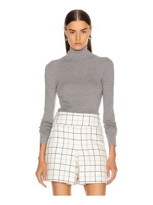 Tibi feather weight ribbed sweater turtleneck pullover