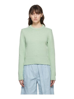 Tibi green yarn shrunken sweater