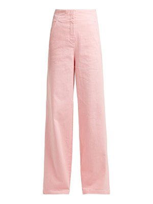 Tibi high rise wide leg jeans