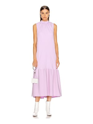 Tibi modern drape sculpted drape long dress