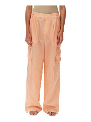 Tibi Nylon Pleated Cargo Pants
