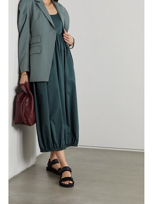Tibi open-back gathered cotton-poplin midi dress