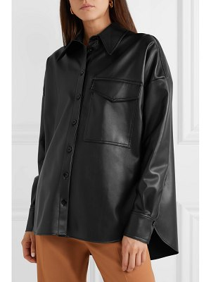 Tibi oversized faux leather shirt