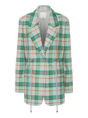 Tibi Plaid cotton-blend blazer
