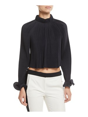 Tibi Pleating Cropped Top
