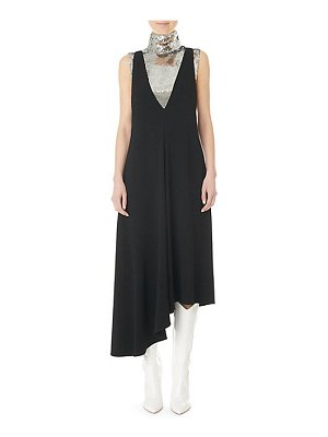 Tibi plunging asymmetric midi dress