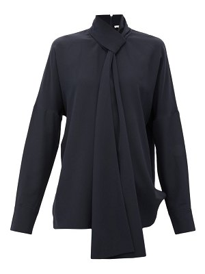 Tibi pussy-bow silk crepe-de-chine blouse