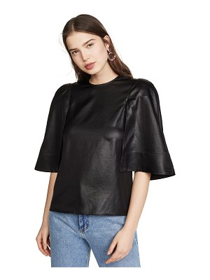 Tibi sculpted cape top