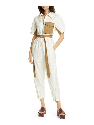 Tibi slub cotton flight jumpsuit
