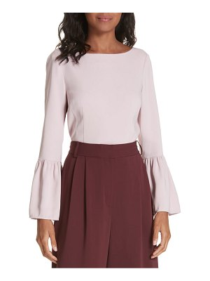 Tibi stretch suiting bell sleeve top