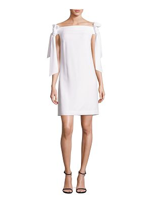 Tibi Tie Off-The-Shoulder Dress