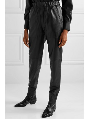 Tibi tissue leather tapered pants