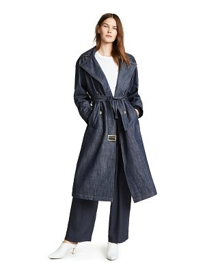 Tibi trench coat with removable collar