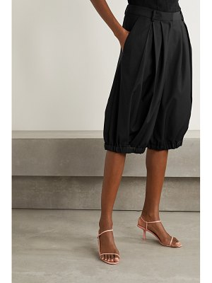 Tibi tropical pleated woven shorts