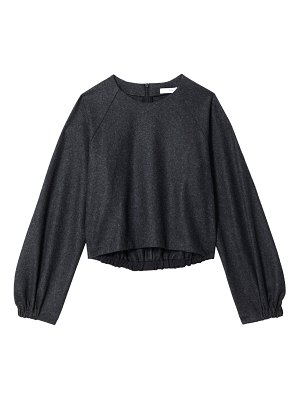 Tibi tweedy melange knit top