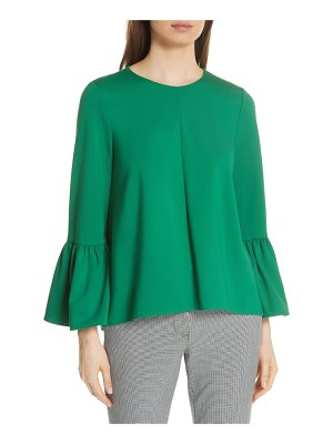 Tibi knit ruffle sleeve top
