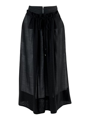 Tibi wool-blend double overlay midi skirt