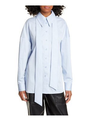 Tibi zip detail easy shirt