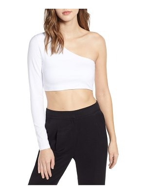 tiger Mist hatty one-shoulder one-sleeve crop top