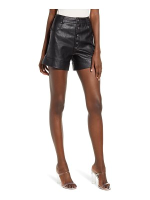 tiger Mist high waist faux leather shorts
