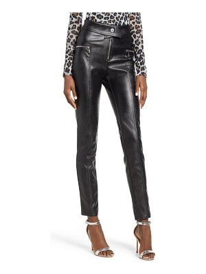 tiger Mist highlight faux leather pants